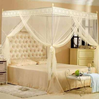 Cream Four Stand Mosquito nets
