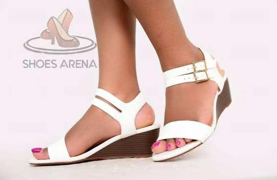 White wedge shoe image 1