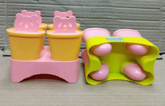 plastic Ice lolly mould set of four with stand image 1