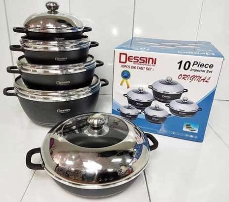 10 Pieces Dessini Non-Stick Cooking Set Pots image 1
