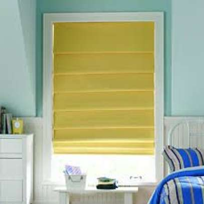 Office blinds yellow