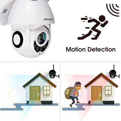 cctv camera Solar  Rotate 355° left and right, 120° up and down image 2