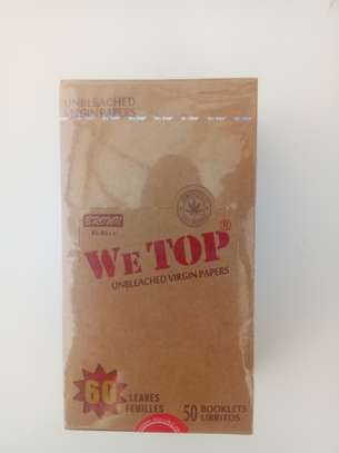 We top Unbleached rolling papers image 1