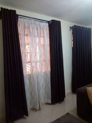 curtain complete with the blind