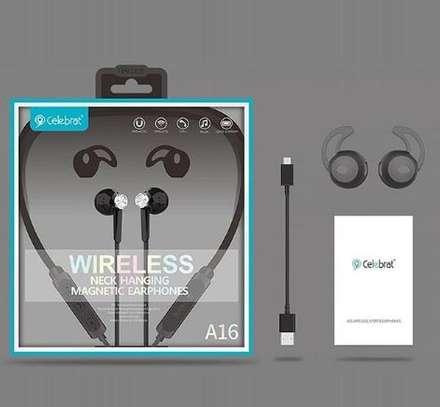 Celebrat wireless Bluetooth earphones image 1