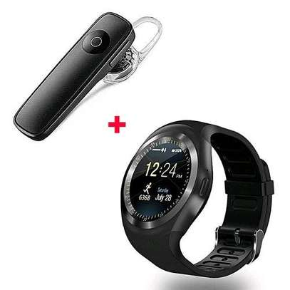 Y1 Smart Phone Watch With Free Bluetooth - Black image 1