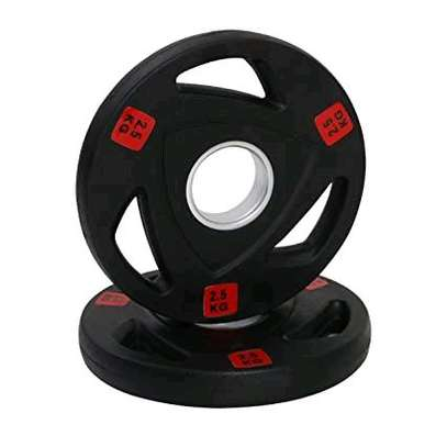 25kg Pair Rubber coated weight plates image 1