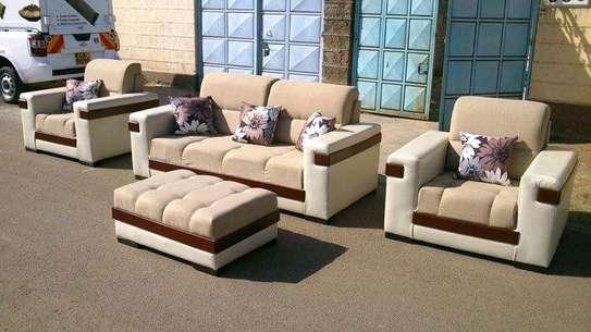Stylish Contemporary Quality 5 Seater Sofa image 1