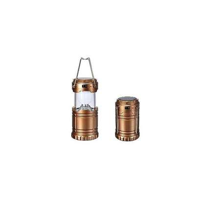 Generic Rechargeable Portable Emergency lamp Solar Lights - Bronze /silver .