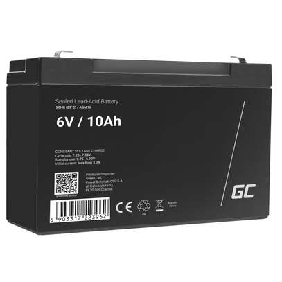 6V 10AH rechargeable lead acid battery storage battery small toy car battery image 1