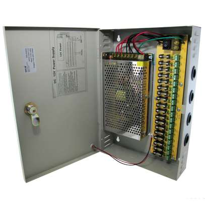 Centralized 18 channel 20amps CCTV power supply