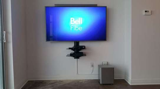 TV Mounting Service with On-wall Wire Concealment image 1