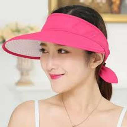 Fashion Sun Hats Women Summer Wide Foldable-black,beige,pink and peach image 2