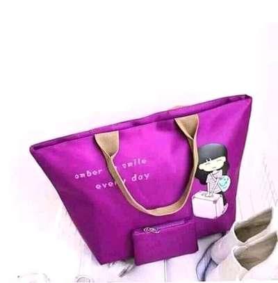 Ladies Canvas Handbags(2 in 1) image 3
