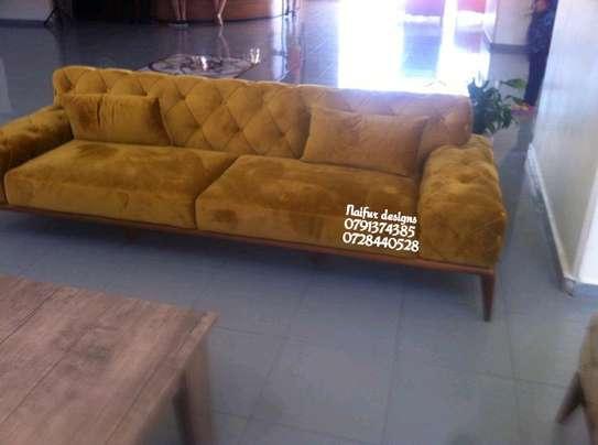 Yellow sofas/three seater sofas image 1