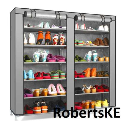 grey shoerack image 1