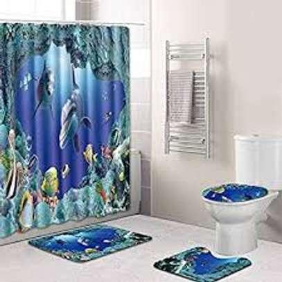 curtain bathroom mat sets image 2