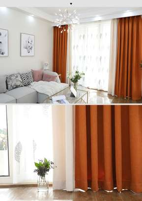 CURTAINS WITH WHITE PRINTED SHEERS image 4