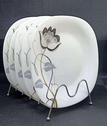 6PCS SQUARE DINNER PLATES image 1