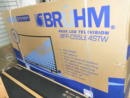 Brandnew Bruhm 55 inches UHD 4k Curved
