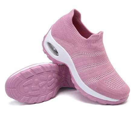 Women casual running breathable mess hallow plattform sneakers image 4