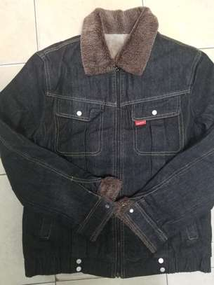 Denim woolen jackets image 2