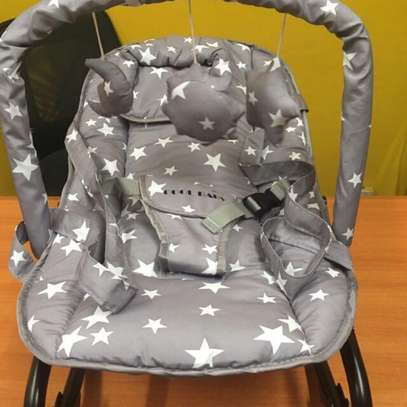Infant bouncer/rocker- Gray with Big Stars