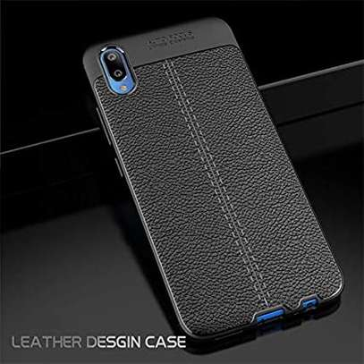 Auto Focus Leather Pattern Soft TPU Back Case Cover for Samsung M10 M20 M30 image 4