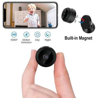 Mini Hidden Spy Camera WiFi Small Wireless Video Camera Full HD 1080P Audio Infrared Night Vision Motion Sensor Support SD Card for iPhone Android Video Detection Security Nanny Surveillance Cam image 3