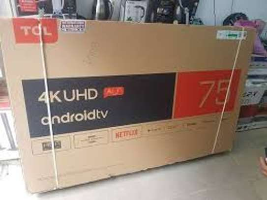 """75"""" tcl 4k uhd Android  tv image 1"""