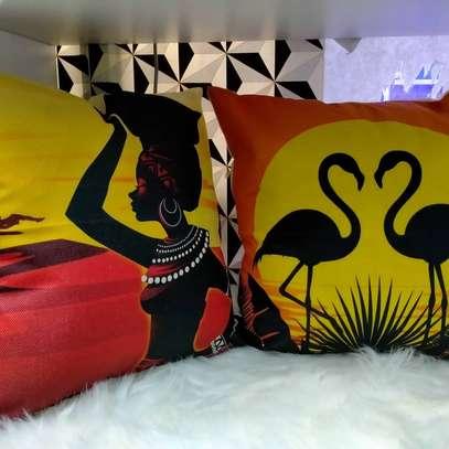 AFRICAN PRINT THROWPILLOWS image 2