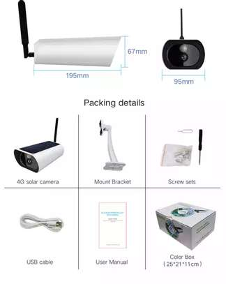 3G/4G sim Card CCTV Camera 100% wireless image 4