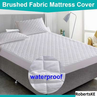 durable waterproof mattress protector plain white 5by6 image 2