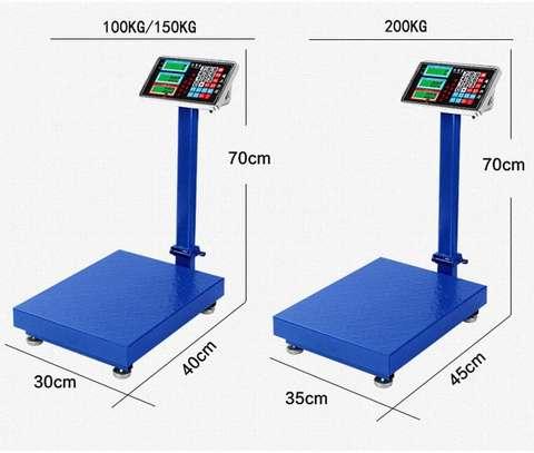 Display 90 ° Folding Adjustable Background Lighting Industrial Scale (Size : 100KG) image 1