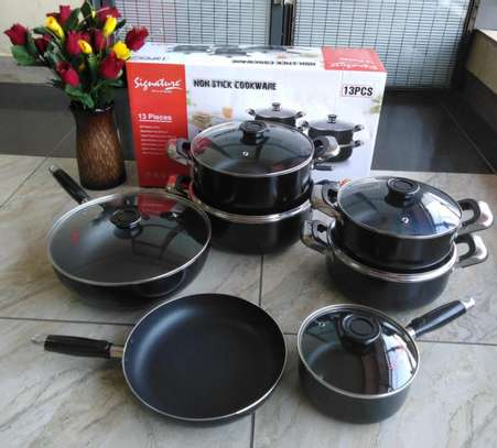 13 pieces Non Stick Cookware Set(Signature) image 1