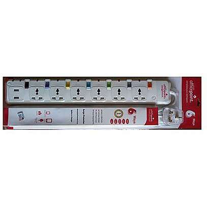 Office Point 6 Way Surge Protected Power Extension image 1