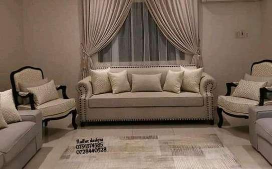 Three seater sofas/modern beige sofas image 1