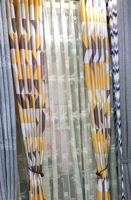 curtains yellow and grey shade linen image 1