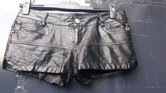Leather shorts image 1