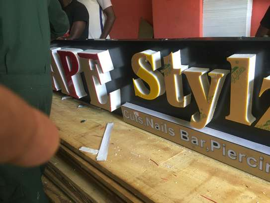 We do quality 3D signage, Light box signage, corporate logos.. contact us for pricing image 12