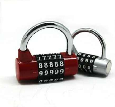 CODED LOCK ALLOY COMBINATION 5 DIGIT PASSWORD SAFETY LOCK WIDE SHACKLE COMBINATION PADLOCK FOR BACKP image 1
