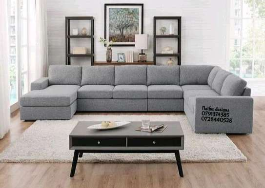U shaped sofas/Modern sofas/grey eight seater sofas U shaped sofas for sale in Nairobi Kenya/sofas and couches/Sectional couch image 1