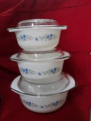 3pc serving dish/casserole set/Heat resistance serving bowl/Hot pot image 1