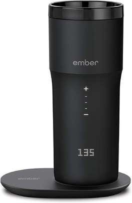 NEW Ember Temperature Control Smart Mug 2, 12 oz, Black, 3-hr Battery Life - App Controlled Heated Coffee Travel Mug - Improved Design image 1