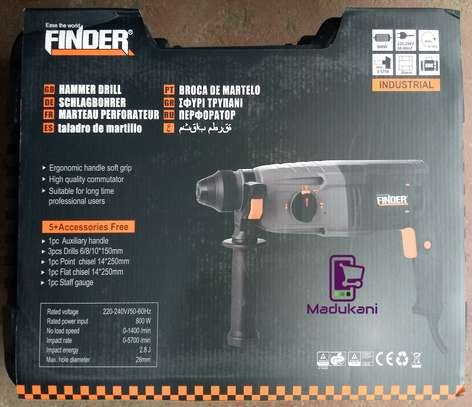 Finder 800W Industrial Hammer Drill with Accessories image 3