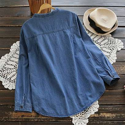 Roll-up Sleeve Casual Loose Shirt image 1