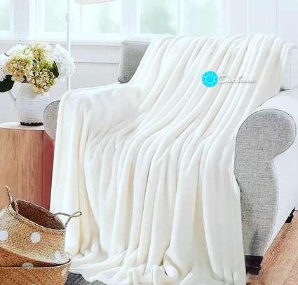 white coral fleece blanket image 1