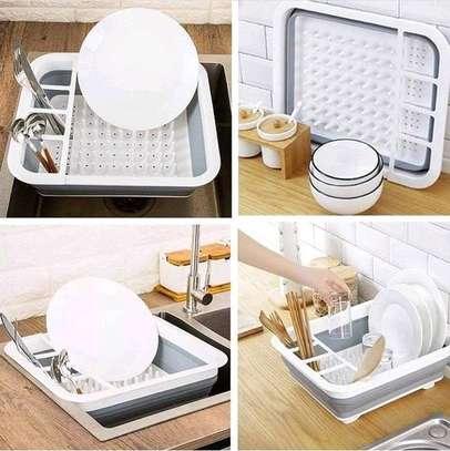 Foldable kitchen drainage rack image 3