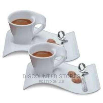 Porcelain Swag Cup+Saucer (Set of 6) image 1