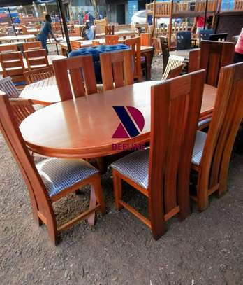 Oval 6 Seater Dining Table Set (401) image 5